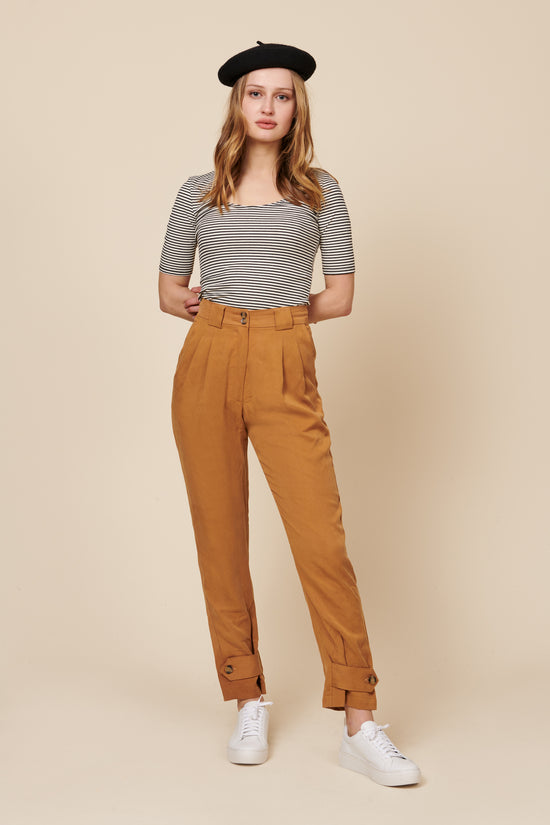 Leanna Pant in Gold - Whimsy & Row