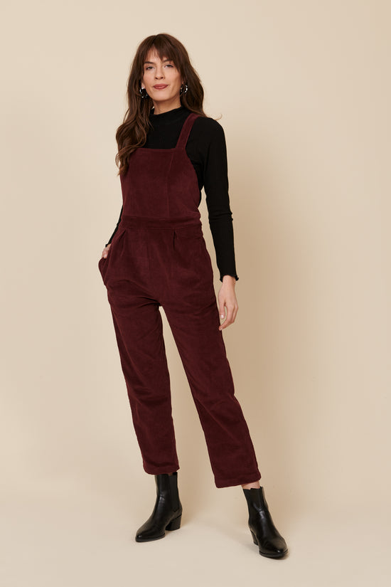 Billie Overall in Plum Cord - Whimsy & Row