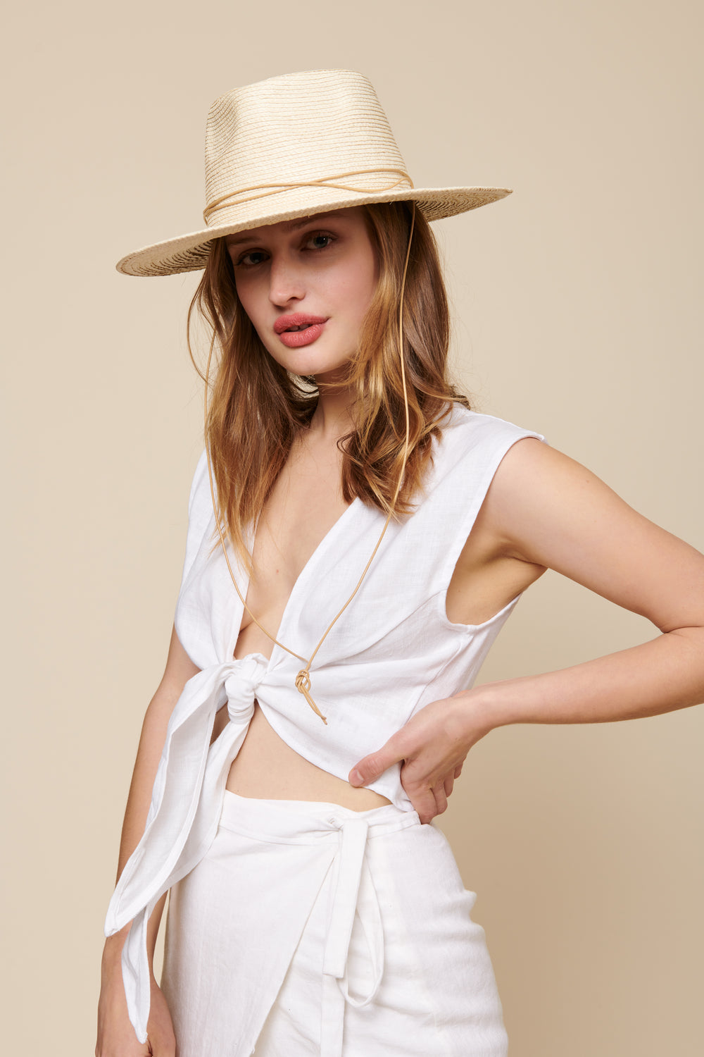 Valentina Top in White Linen - Whimsy & Row