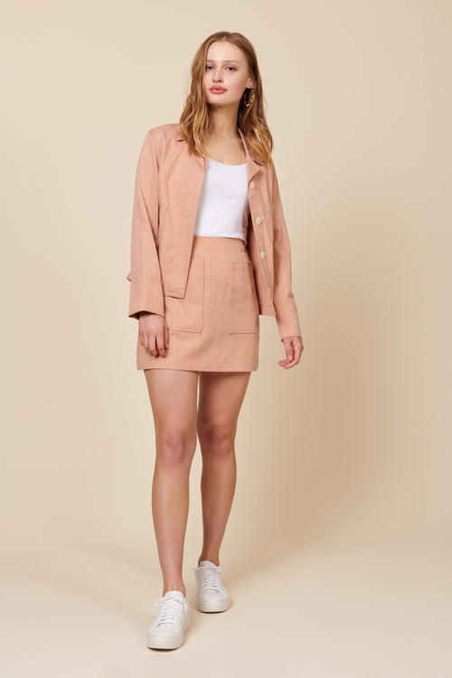 Hayden Jacket in Blush