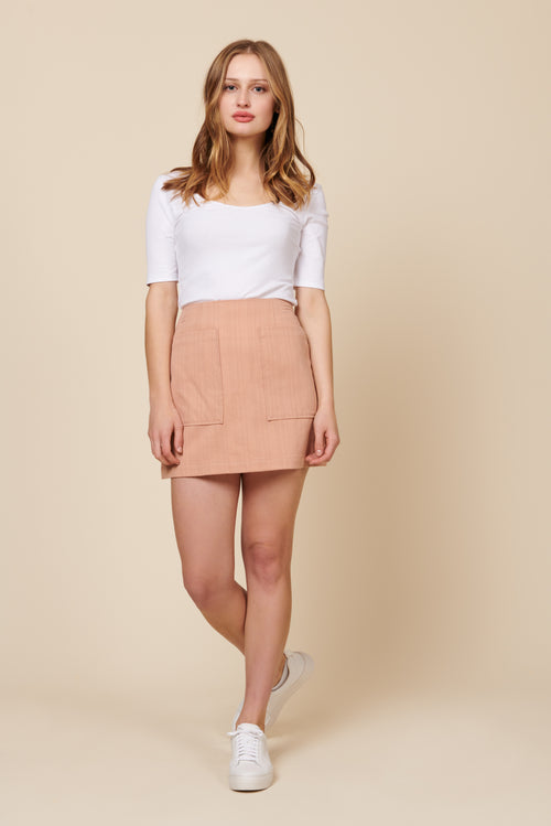 Teagan Skirt in Blush
