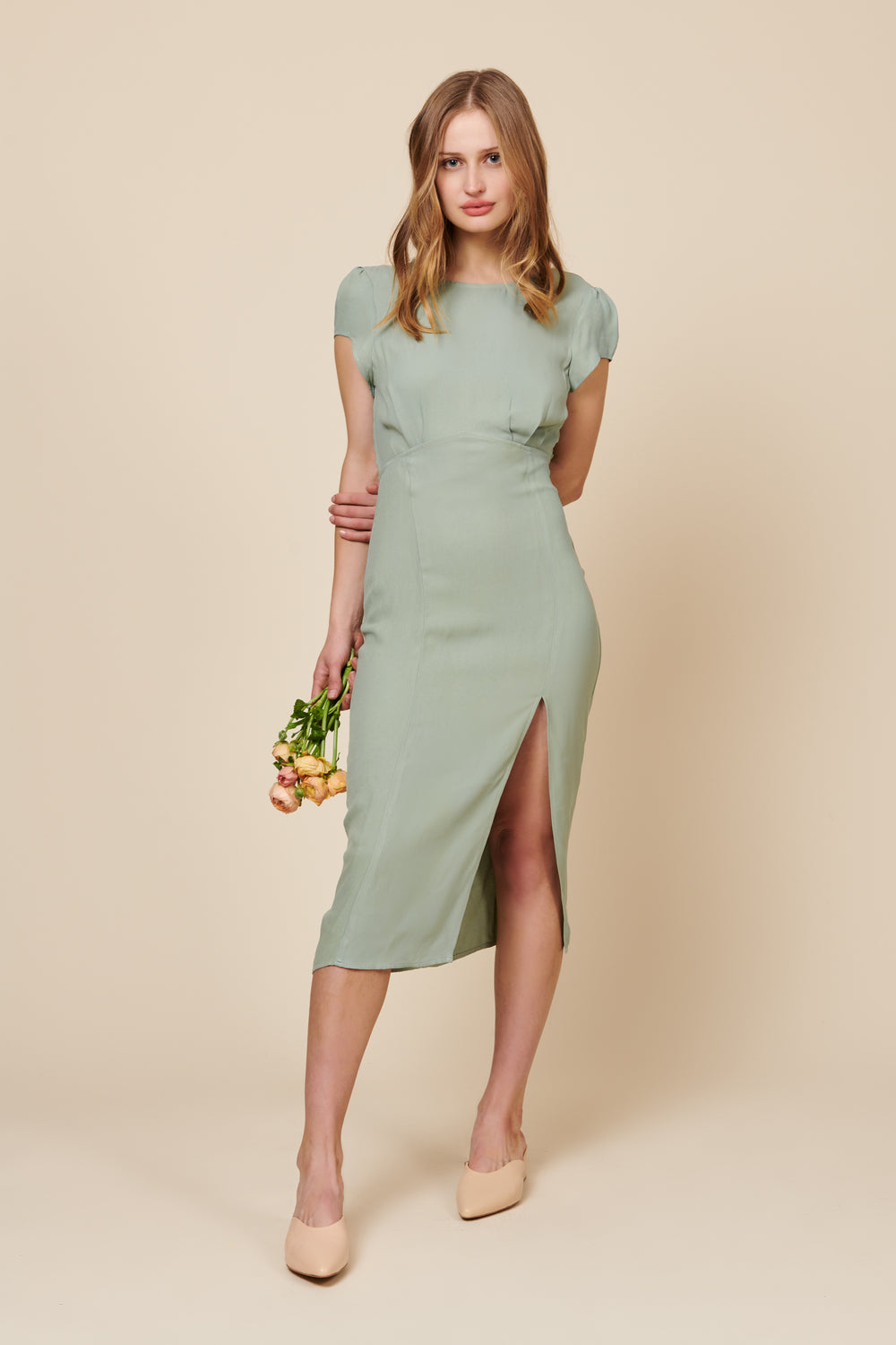 Scarlette Dress in Sage - Whimsy & Row