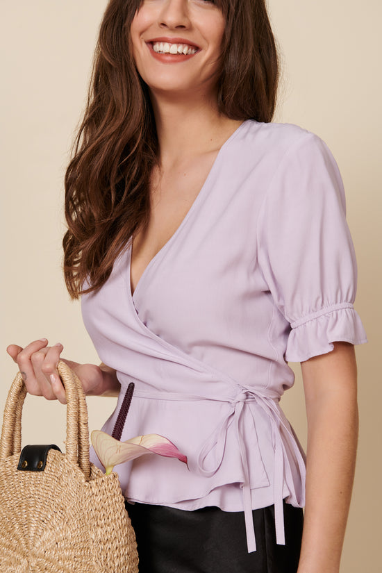 Laura Top in Lavender - Whimsy & Row