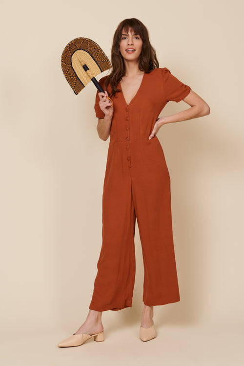 Ellie Jumpsuit in Rust