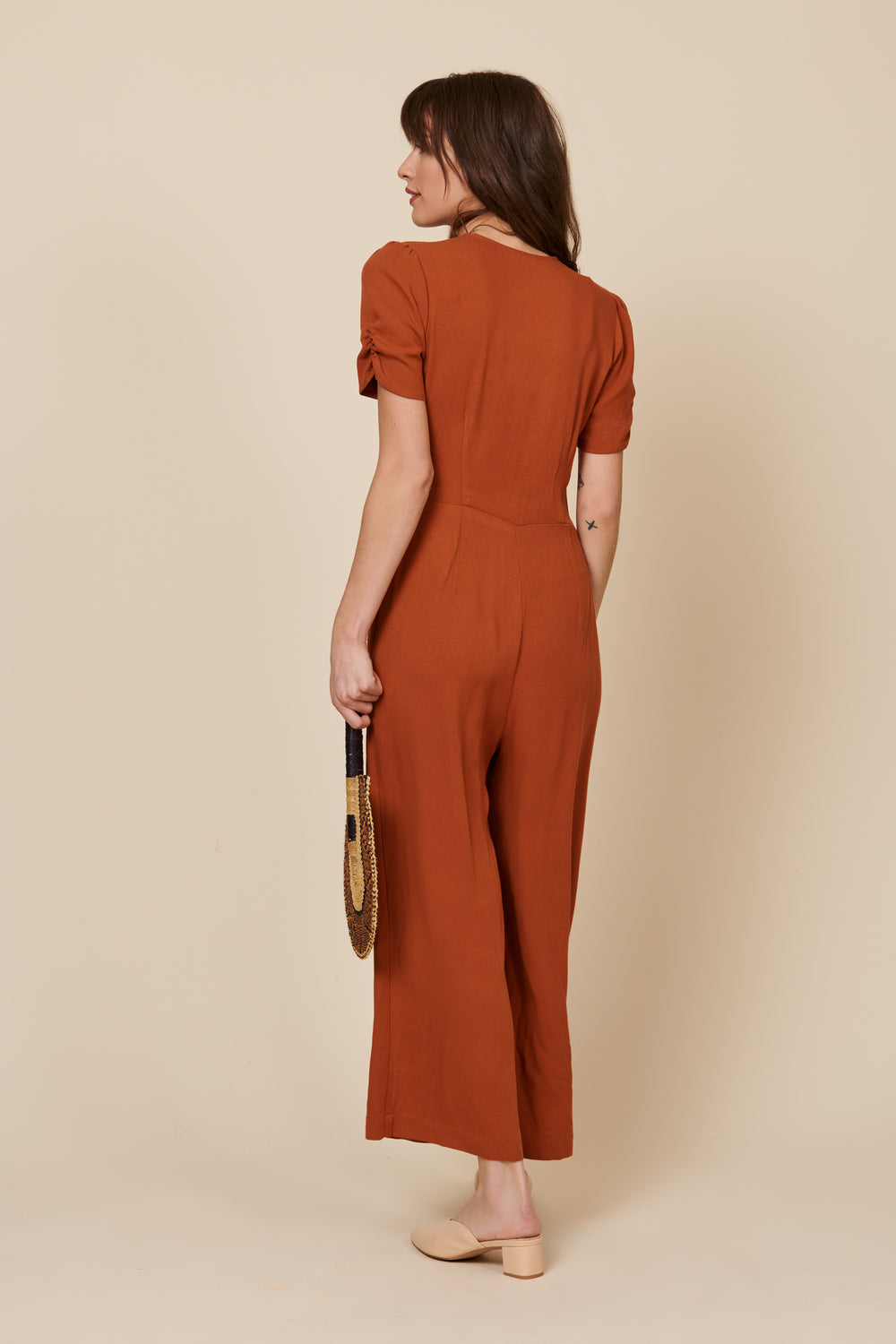 Ellie Jumpsuit in Rust - Whimsy & Row