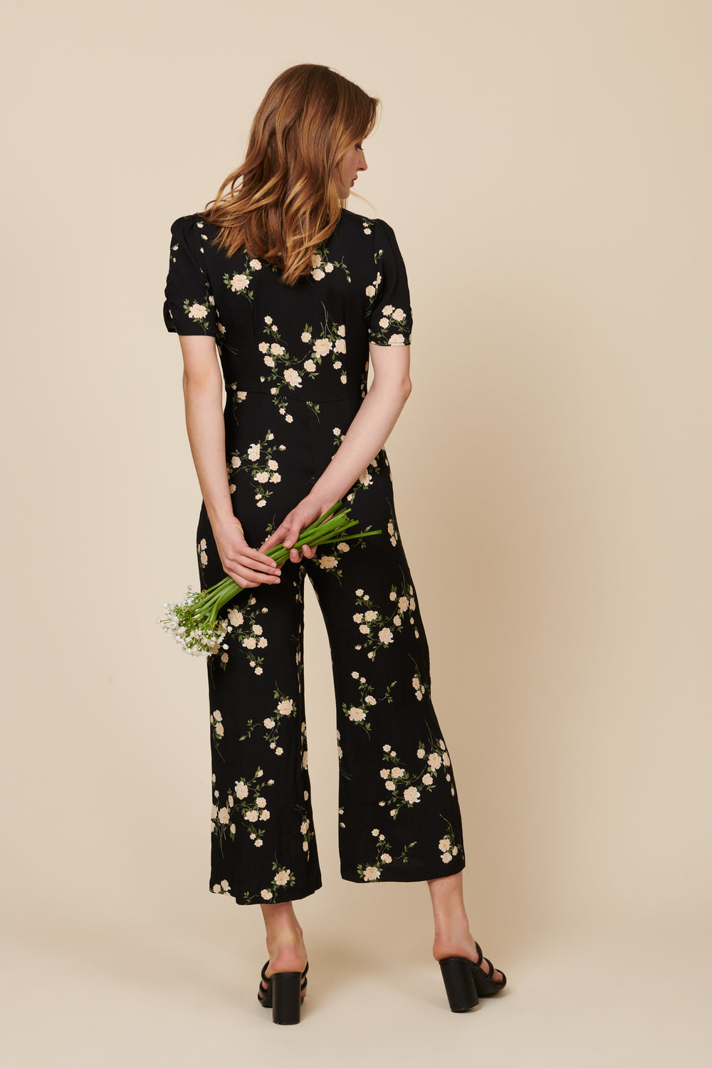 Ellie Jumpsuit in Floral - Whimsy & Row