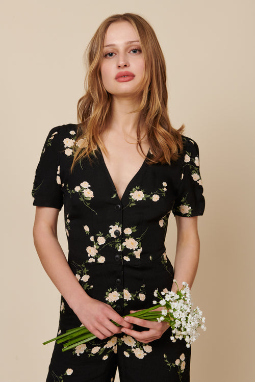 Ellie Jumpsuit in Floral