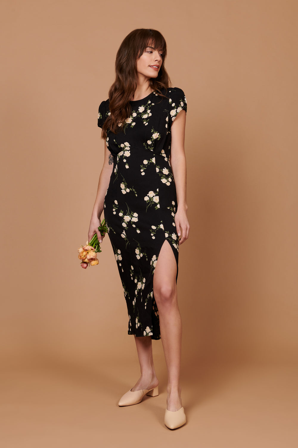 Scarlette Dress in Floral - Whimsy & Row