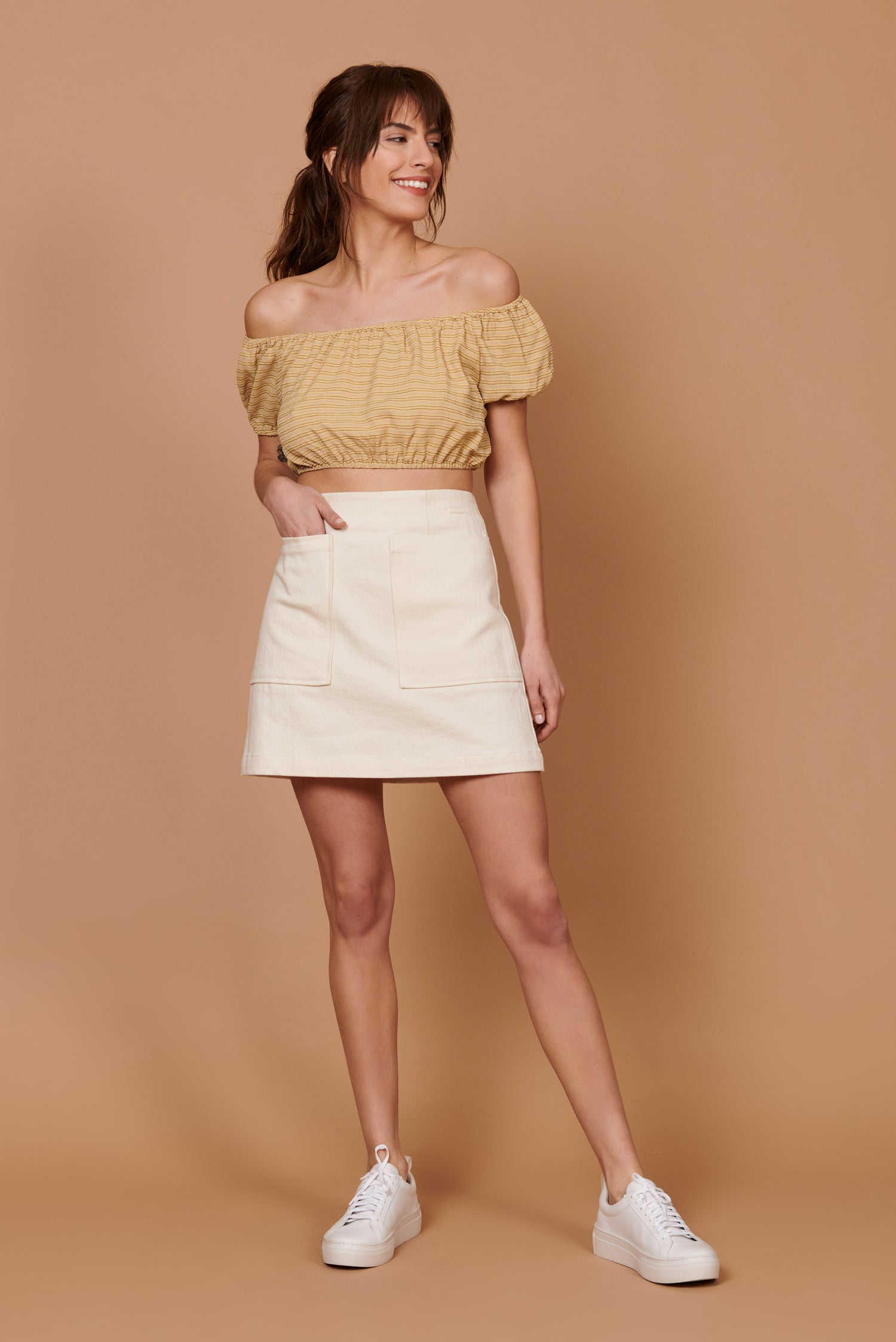Teagan Skirt in Cream