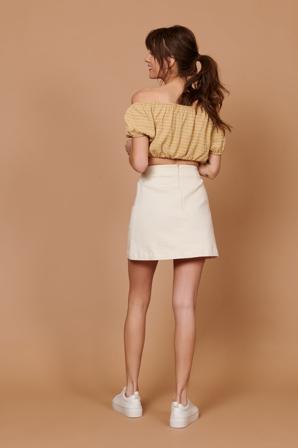 Teagan Skirt in Cream - Whimsy & Row