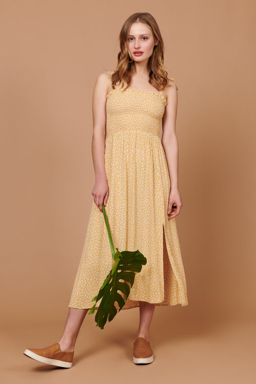 Sophie Dress in Yellow Petit Floral
