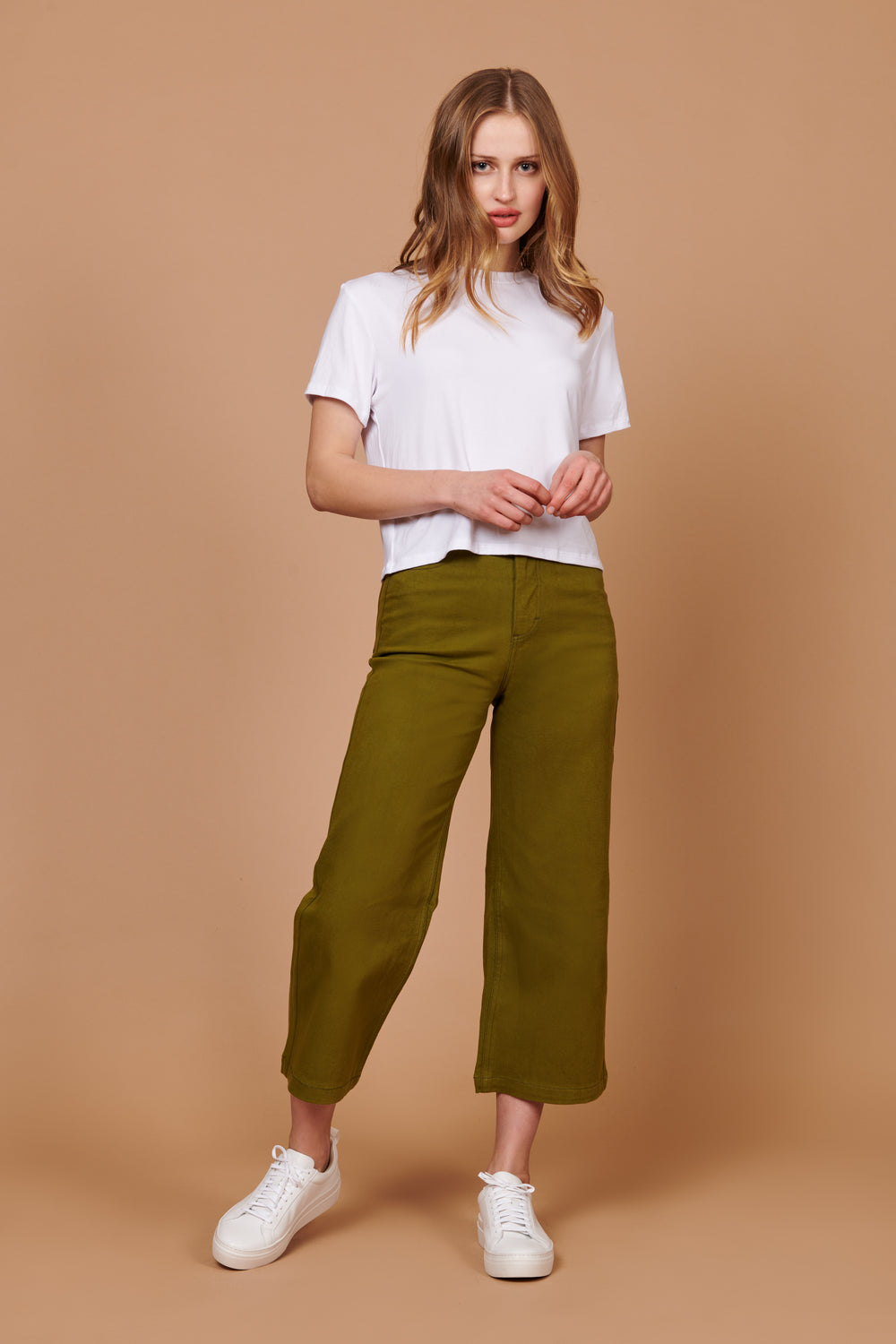 Flora Pant Olive - Whimsy & Row