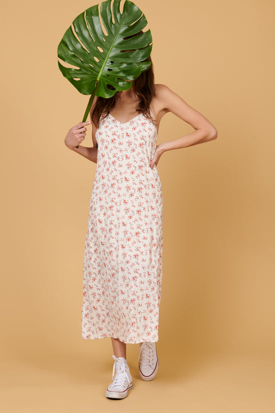 Jade Midi Dress in Ivory Floral - Whimsy & Row