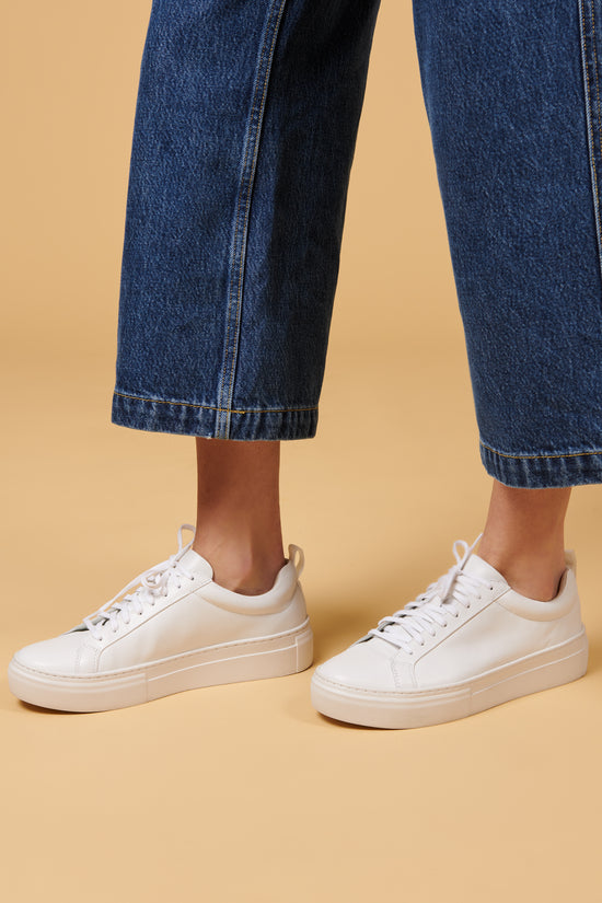 Vagabond Zoe Sneaker in White - Whimsy & Row