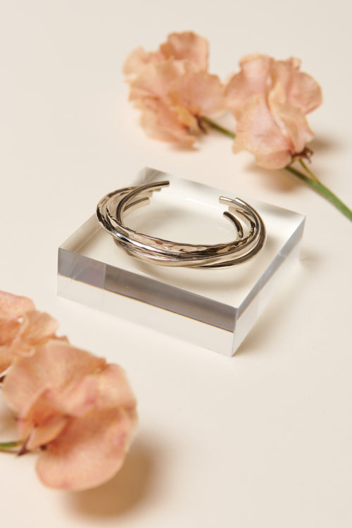 Soko Delicate Bangle Bracelet Set (Silver)