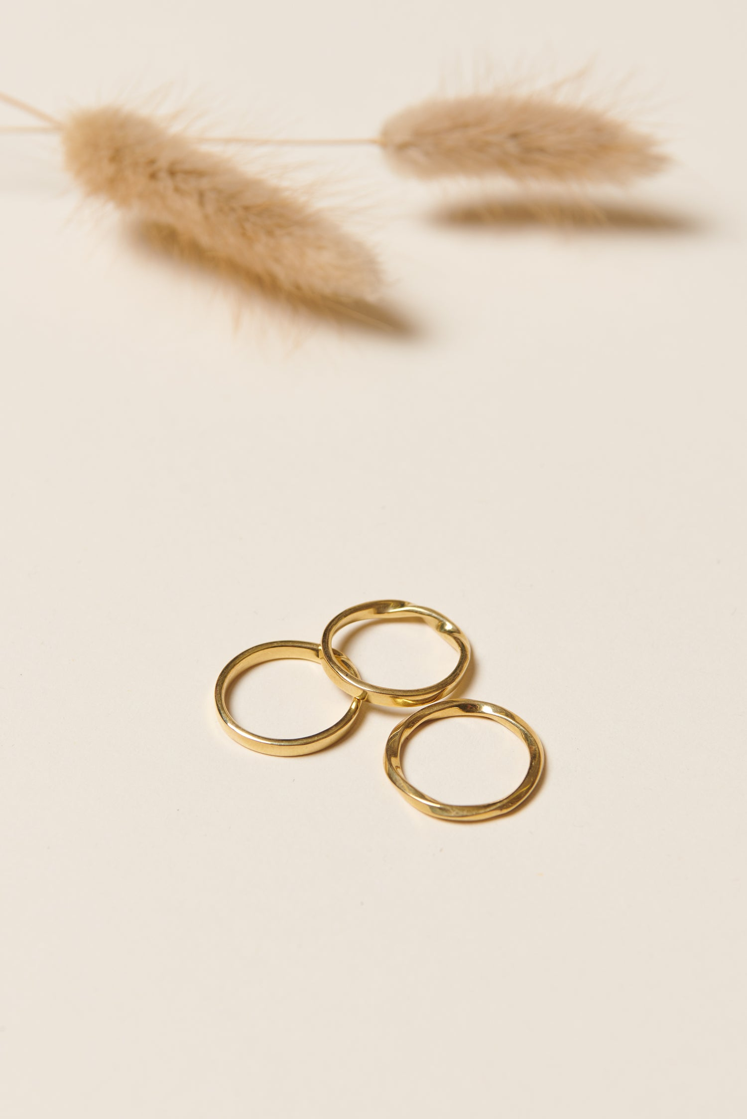 Soko Twist Stacked Rings (Brass)