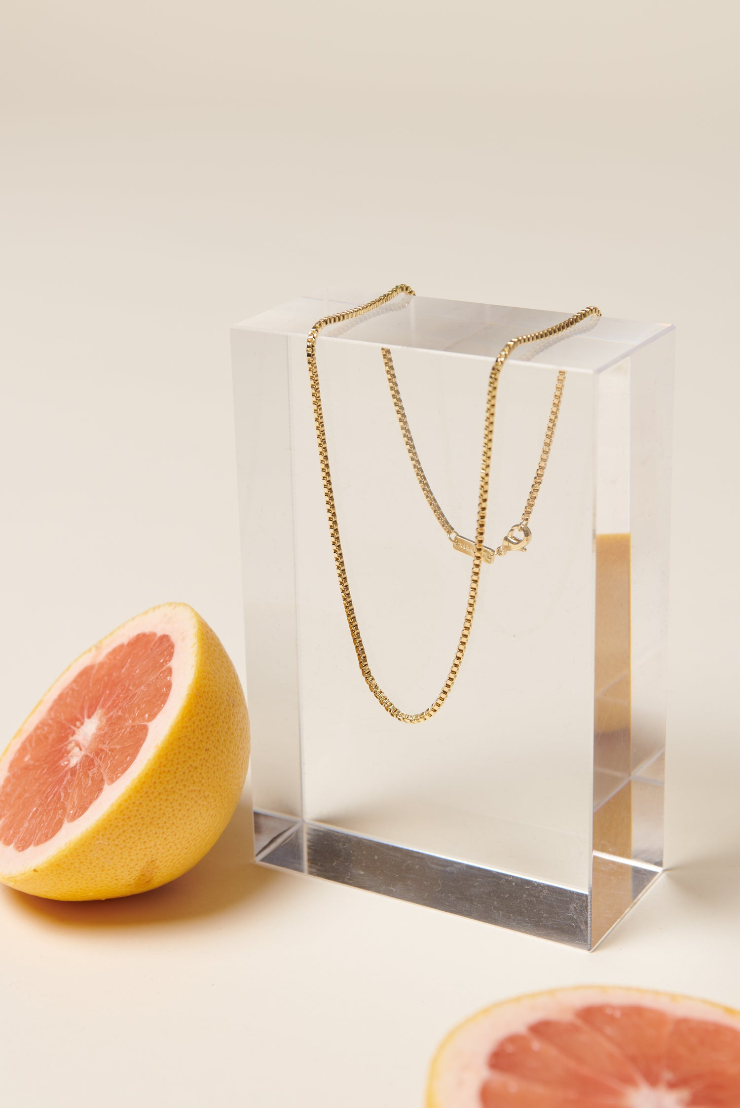 Machete Petite Box Chain Necklace in Gold