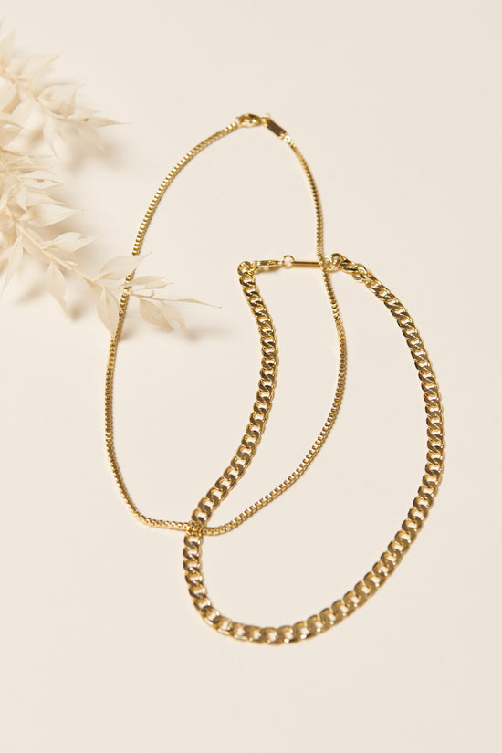 Machete Large Curb Chain Necklace in Gold - Whimsy & Row
