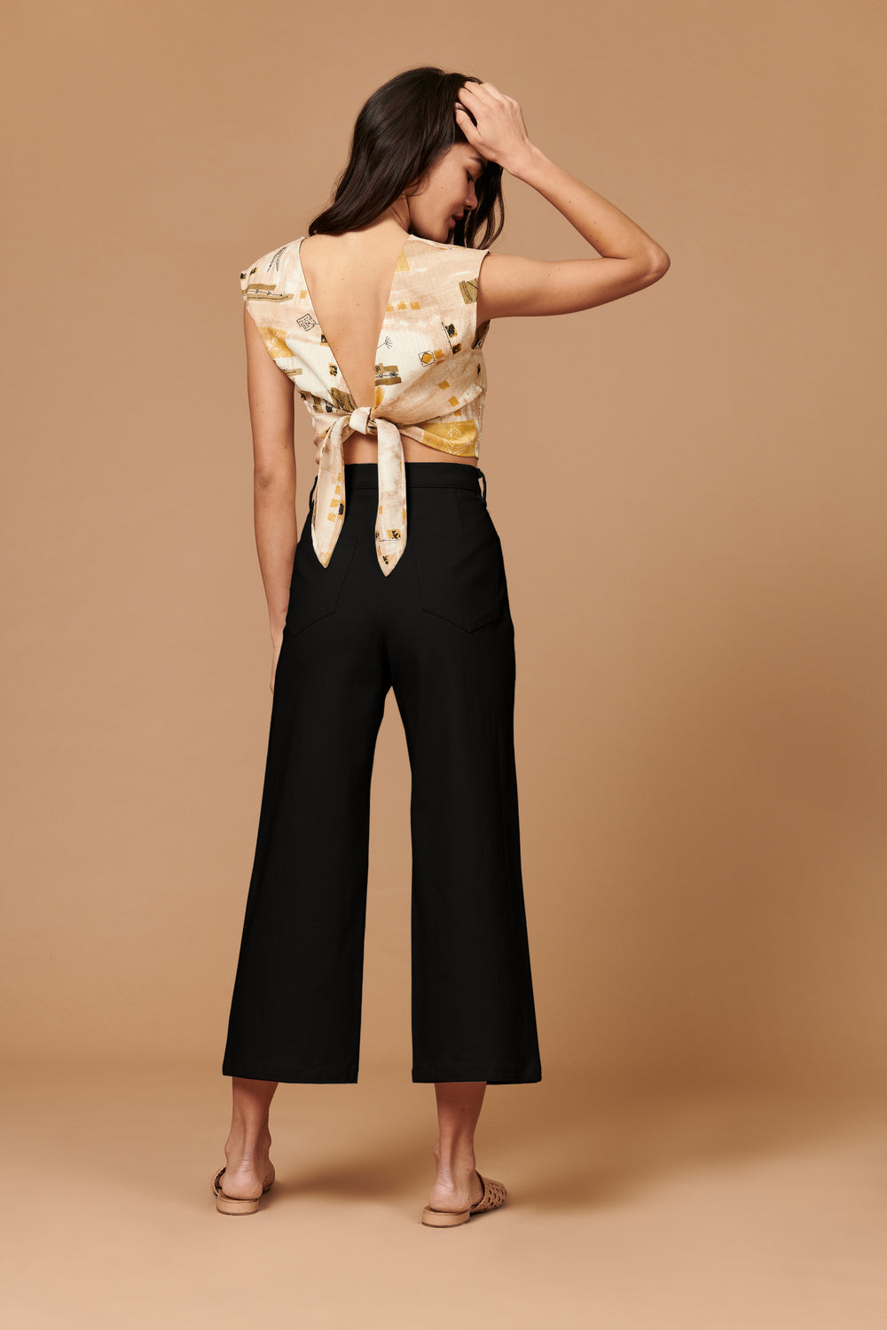 Flora Pant in Black - Whimsy & Row