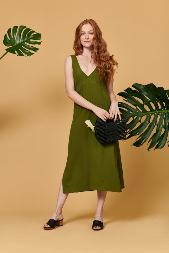 Ella Dress in Emerald