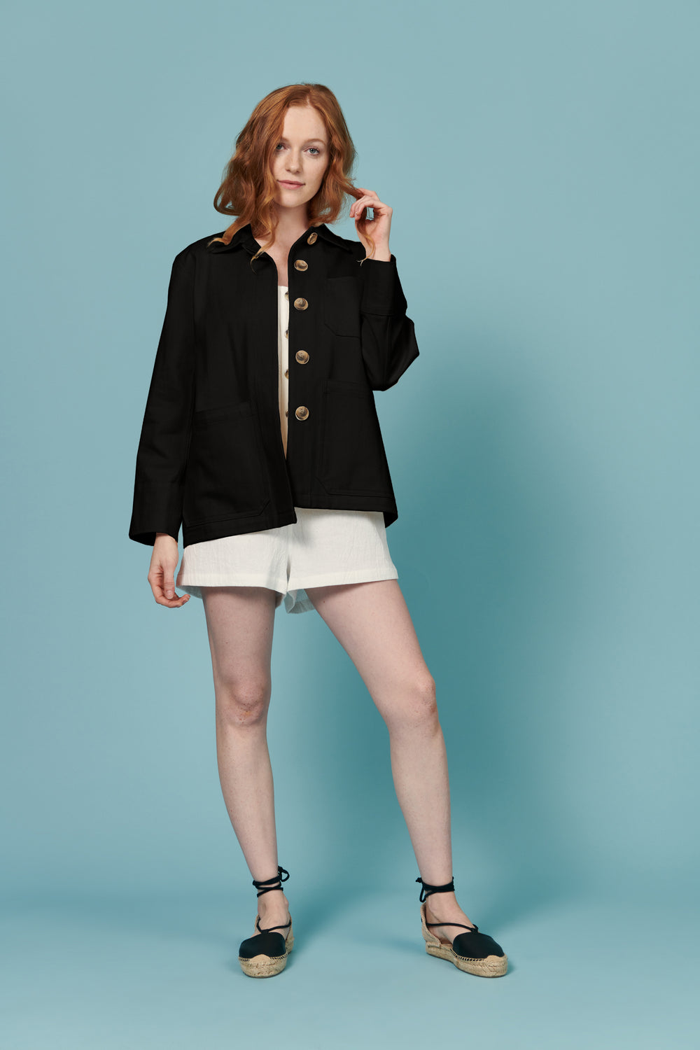 Jordan Jacket in Black - Whimsy & Row