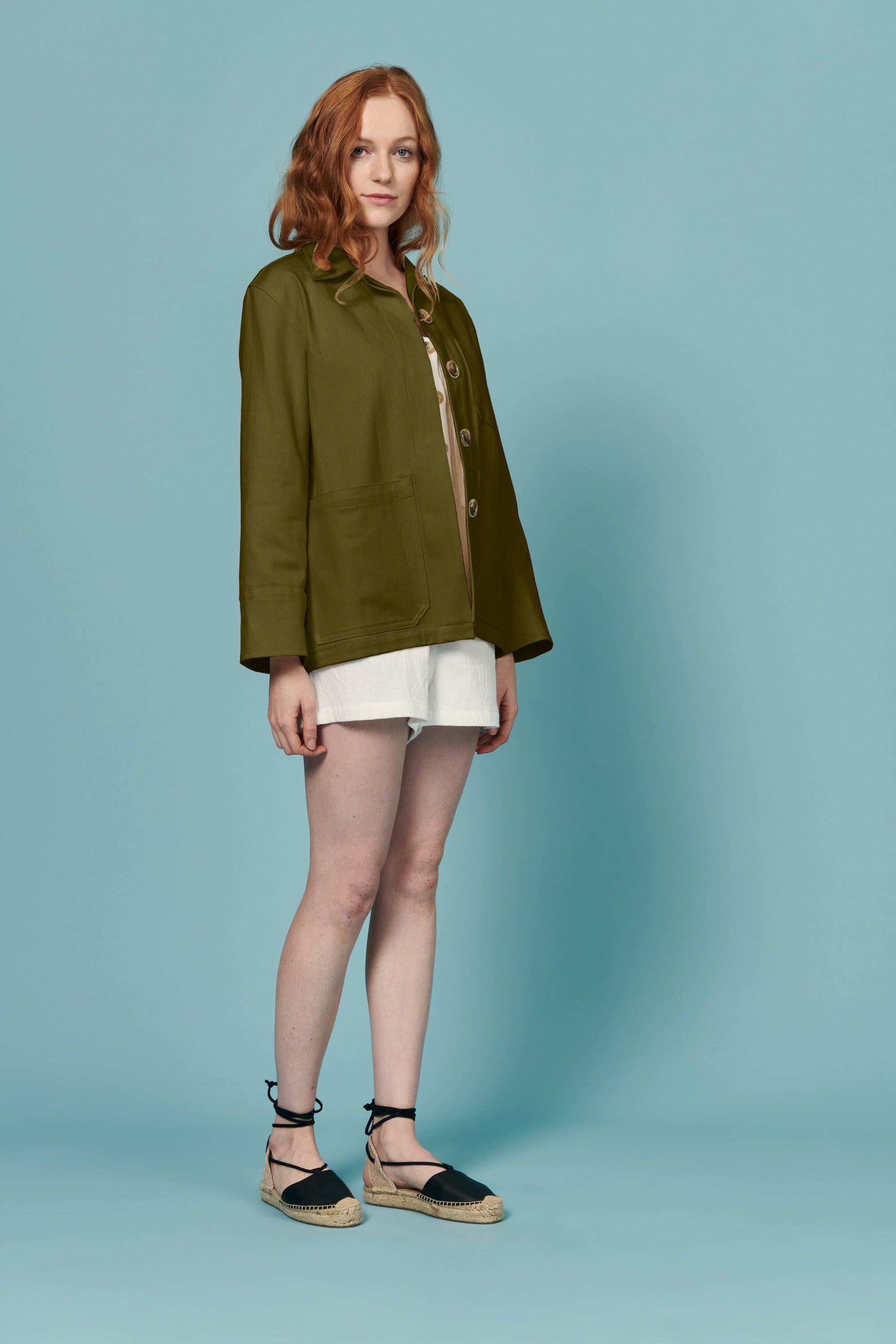a20bb8a0703023 Jordan Jacket in Olive · Whimsy   Row · Sustainable Clothing ...