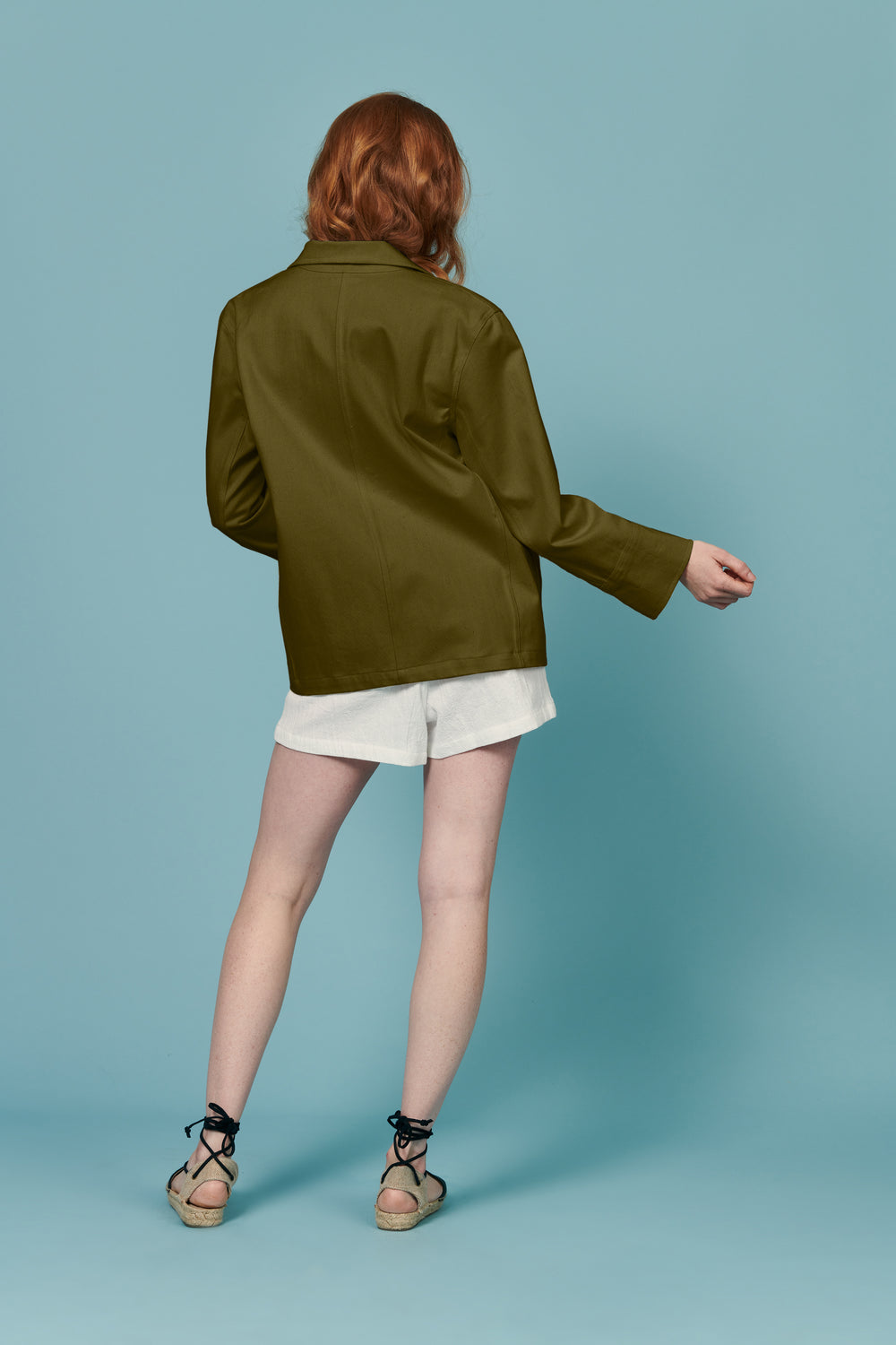 Jordan Jacket in Olive - Whimsy & Row