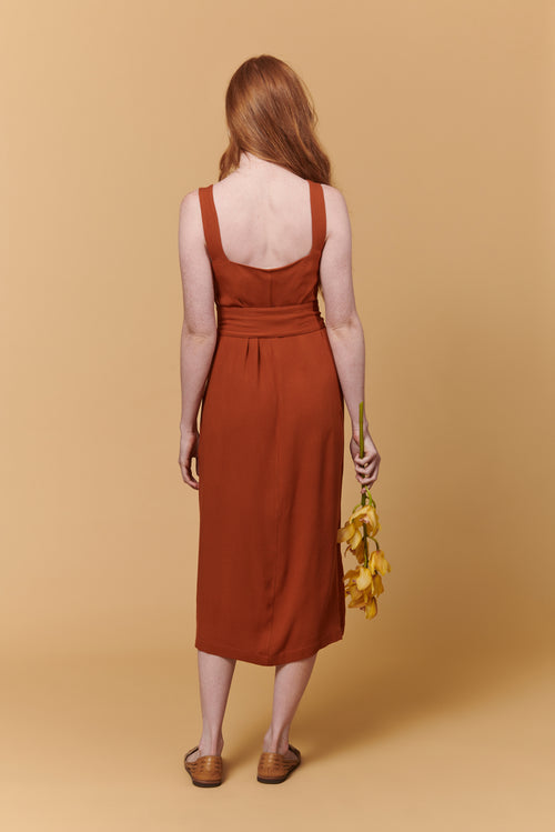 Samantha Dress in Rust