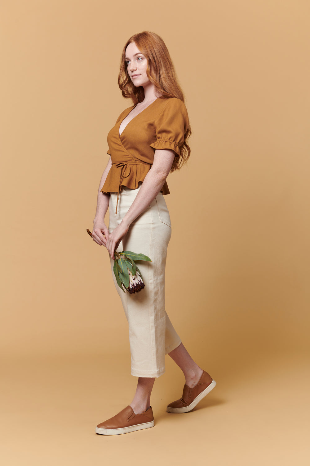 Laura Top in Brown - Whimsy & Row