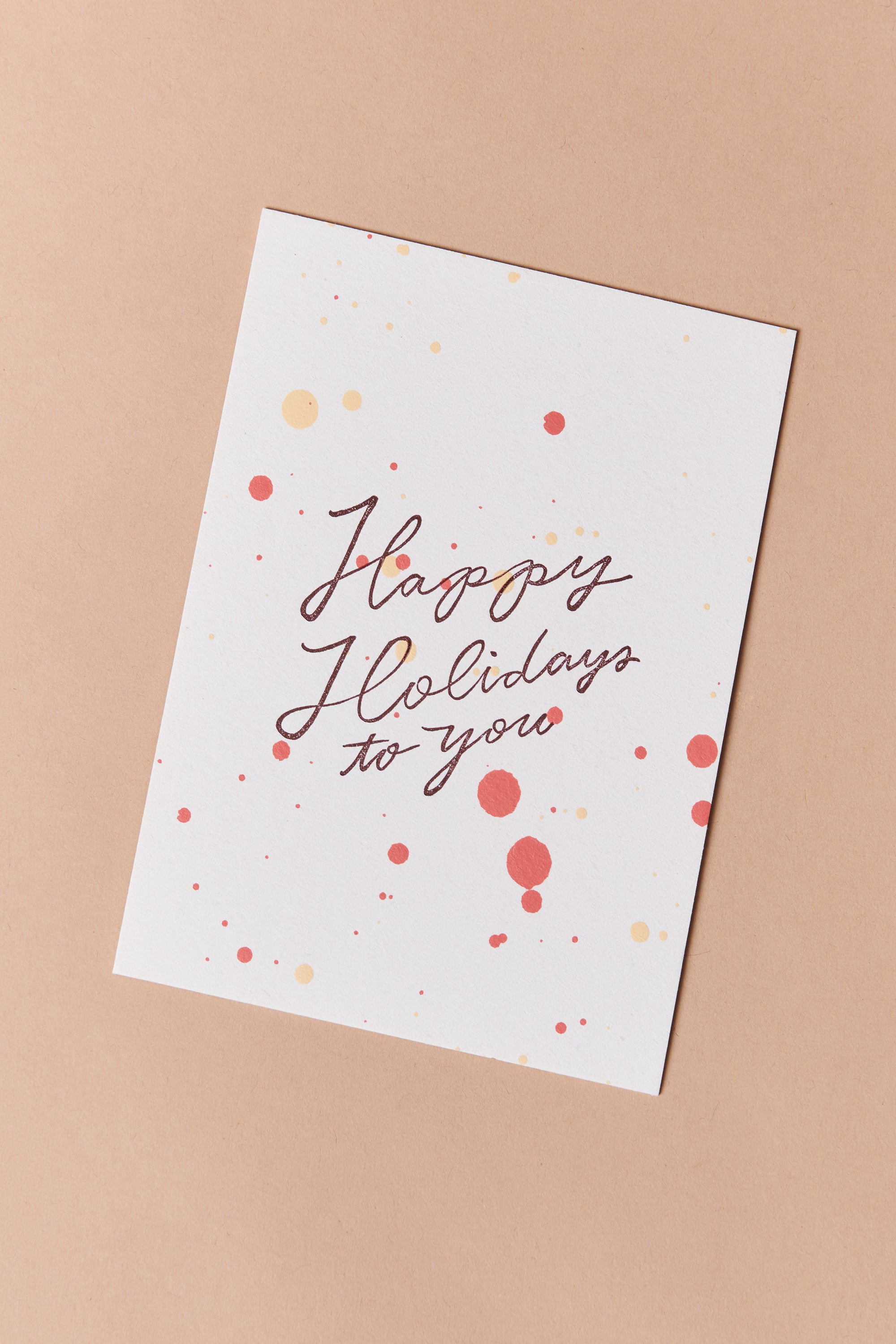 Moglea Happy Holidays To You Card