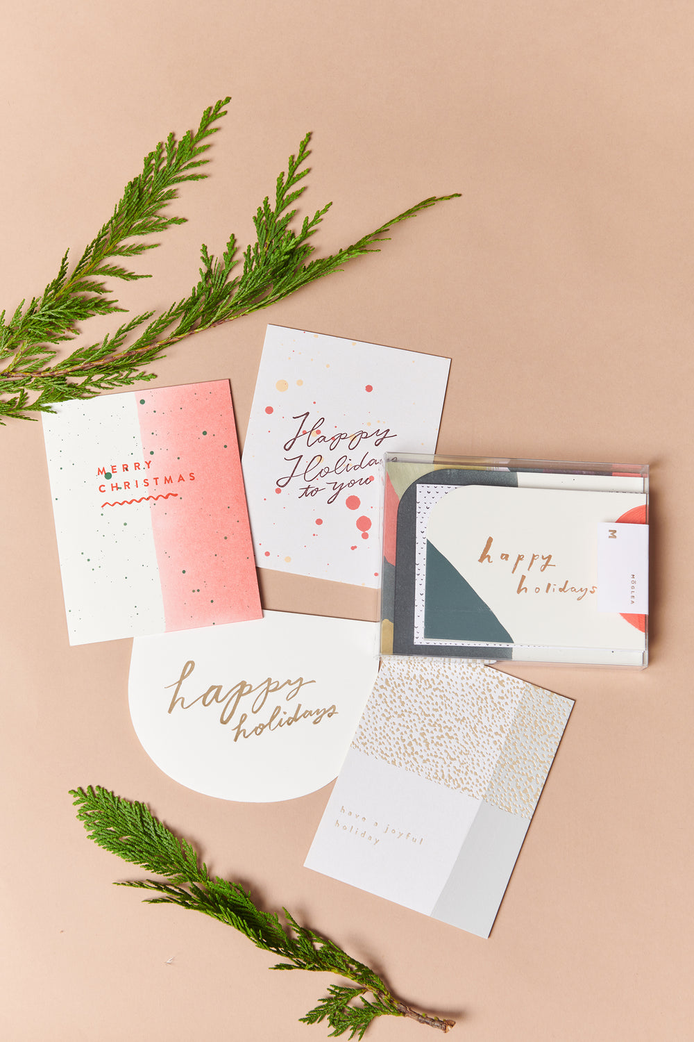 Moglea Happy Holidays Card Set - Whimsy & Row