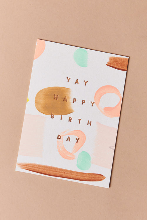Moglea Yay Happy Birthday Card