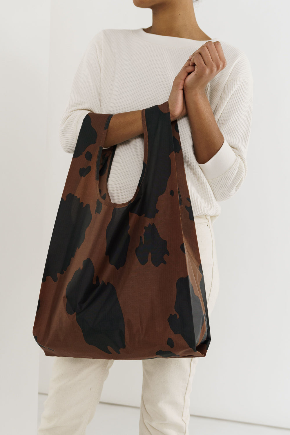 Baggu Reusable Tote- Cow Black and Brown - Whimsy & Row