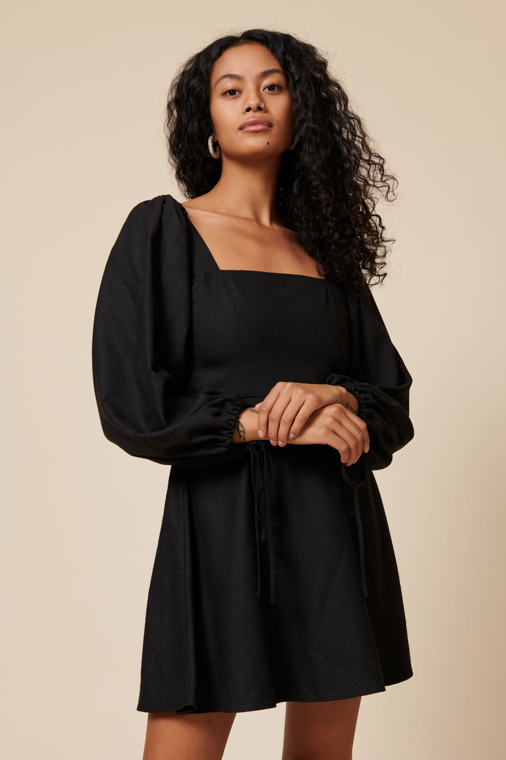 Autumn Dress in Black - Whimsy & Row