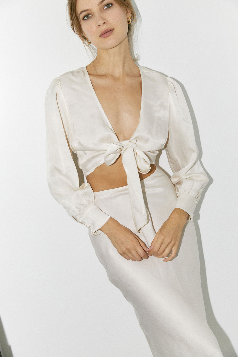 Lauren Top in Cream - Whimsy & Row
