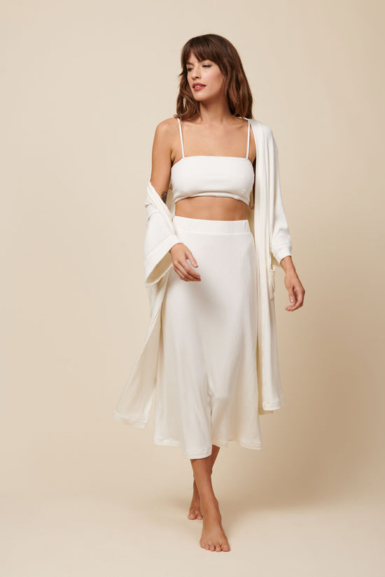 Frances Duster in Cream Rib - Whimsy & Row