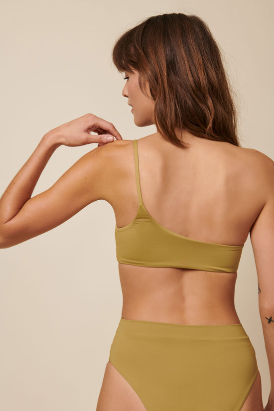 Toast Swim One Shoulder Top - Fennel Seed - Whimsy & Row