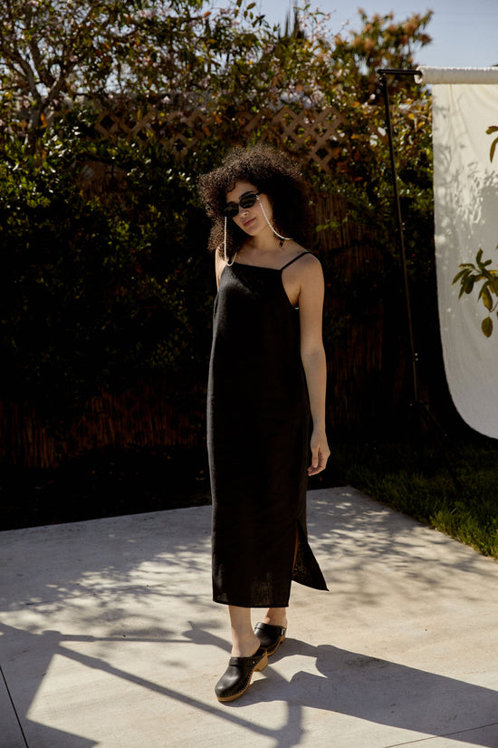Loni Dress in Black - Whimsy & Row