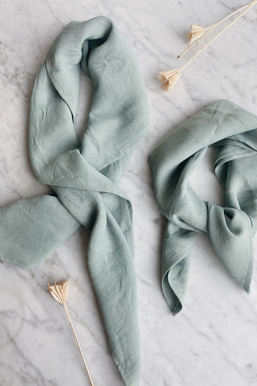 Recycled Square Bandana in Sage - Whimsy & Row