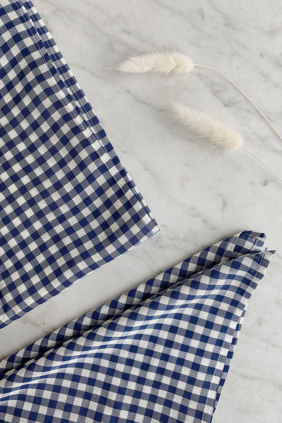 Recycled Square Bandana in Blue Gingham - Whimsy & Row
