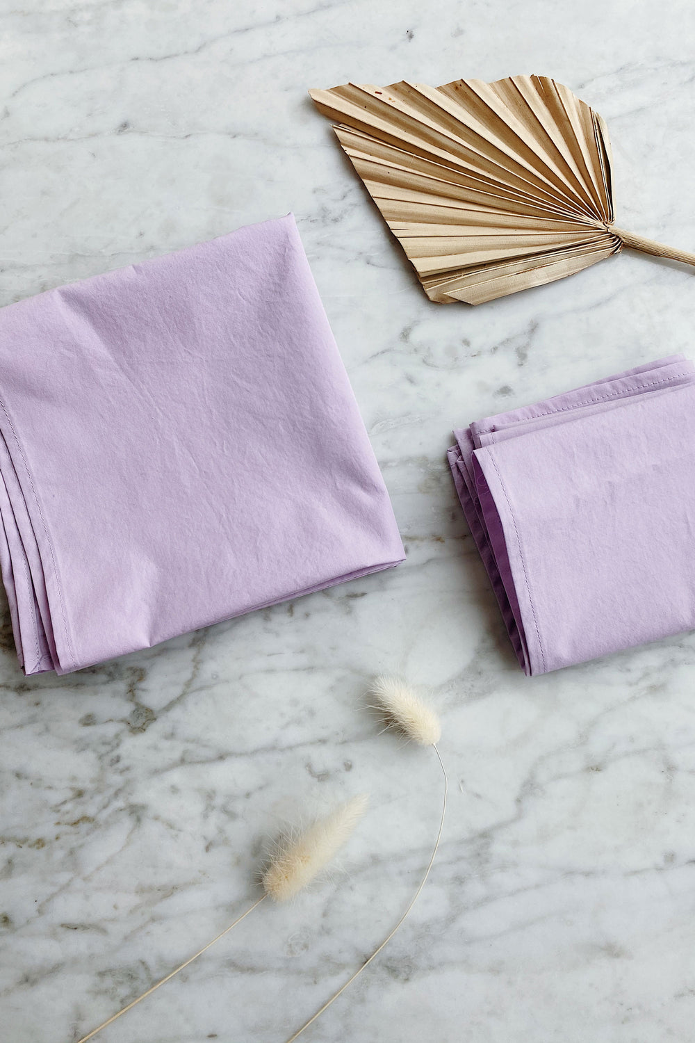 Recycled Square Bandana in Lavender Poplin - Whimsy & Row