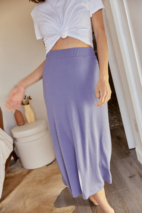Finn Skirt in Periwinkle Rib - Whimsy & Row