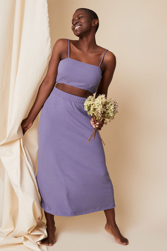 Lennon Crop in Periwinkle Rib - Whimsy & Row