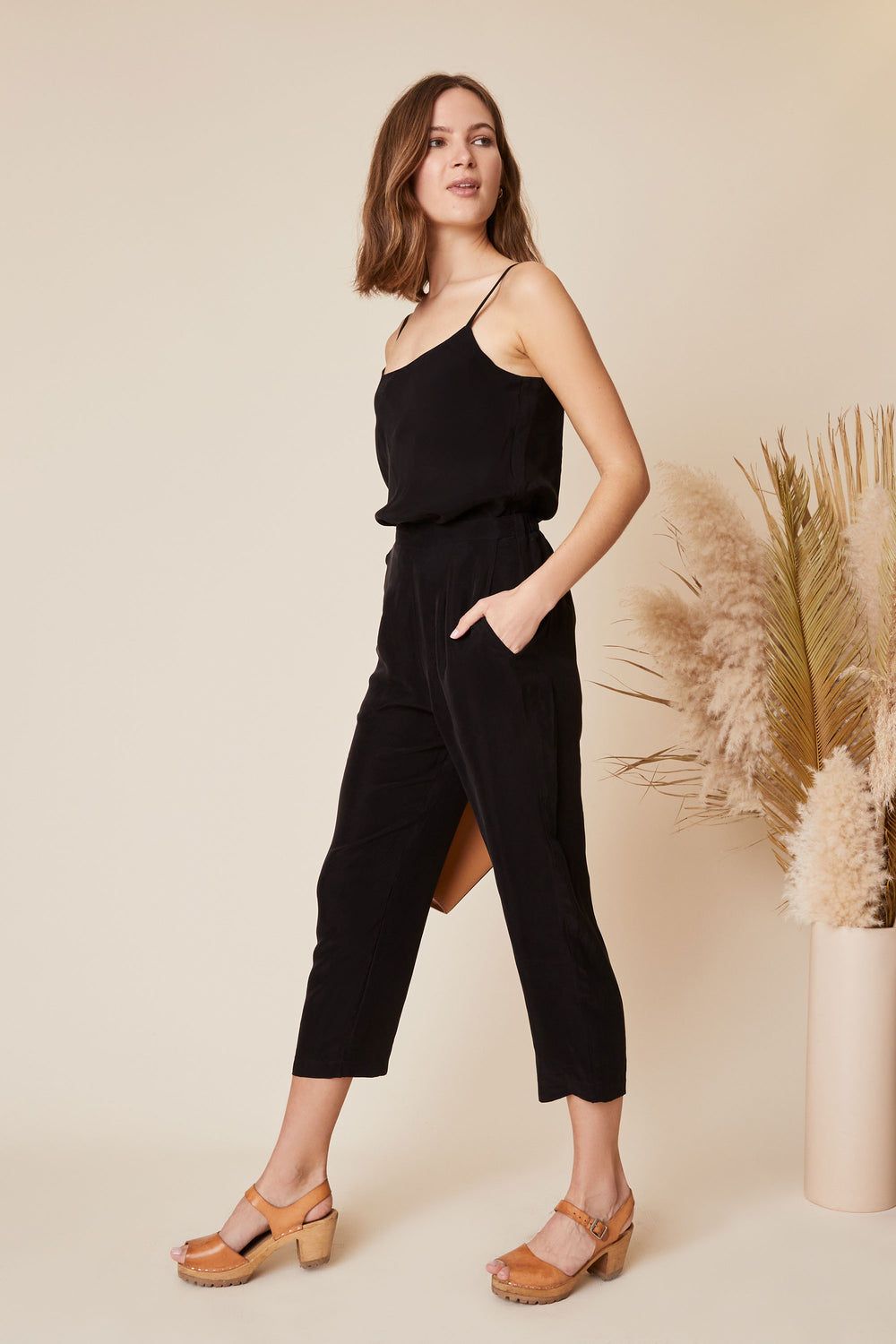 Rowen Pant in Black - Whimsy & Row