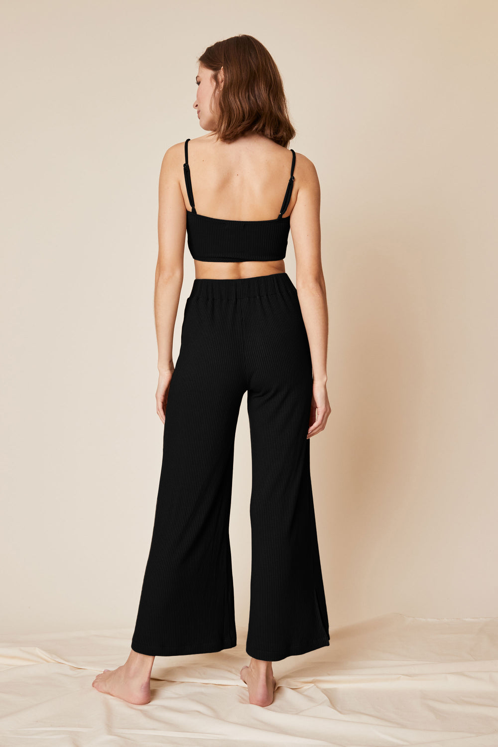 Norah Pant in Black Rib - Whimsy & Row