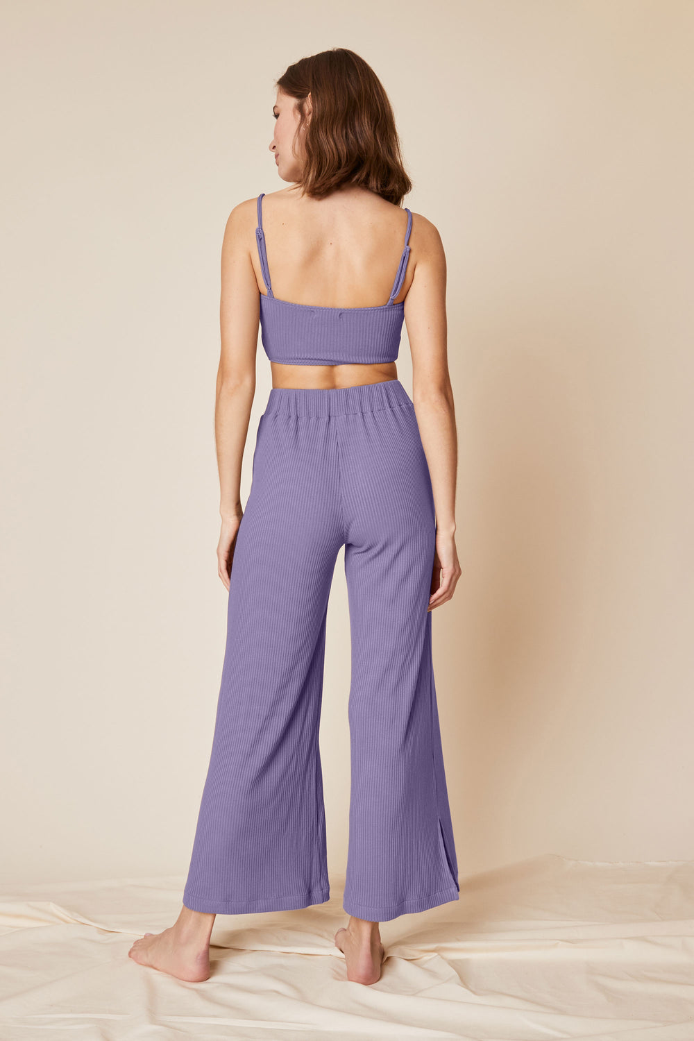 Norah Pant in Periwinkle Rib - Whimsy & Row