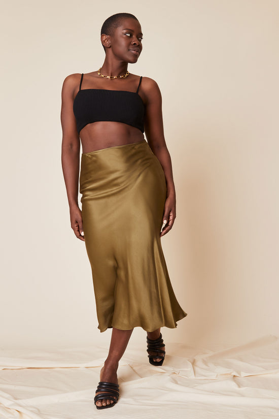 Diana Skirt in Shiny Hunter Green - Whimsy & Row