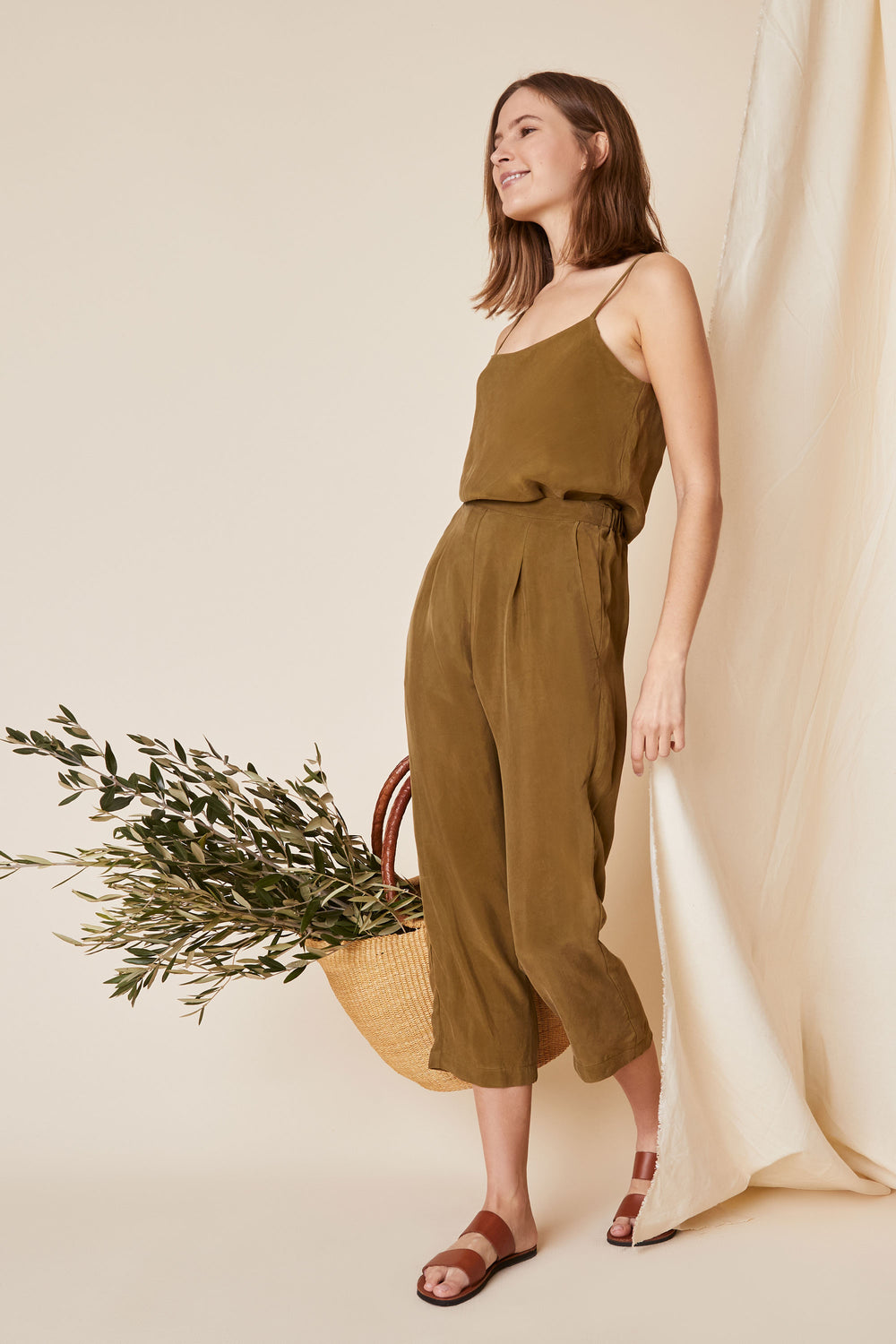 Dylan Cami in Olive - Whimsy & Row