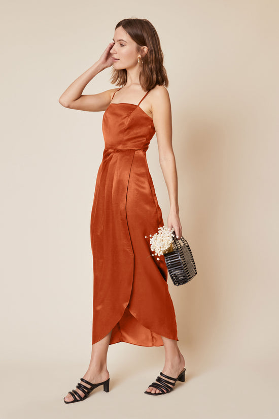 Natalia Dress in Rust - Whimsy & Row