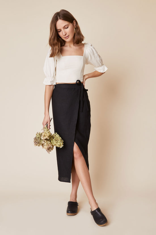 Valentina Skirt in Black - Whimsy & Row